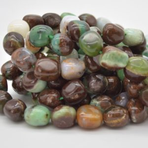 """Shop Chrysoprase Chip & Nugget Beads! High Quality Grade A Natural Chrysoprase Semi-precious Gemstone Large Nugget Beads – approx 15mm – 20mm x 10mm – 12mm – 15.5"""" 