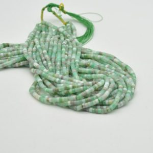 """Shop Chrysoprase Rondelle Beads! High Quality Grade A Natural Light Australian Chrysoprase Semi-Precious Gemstone Flat Heishi Rondelle / Disc Beads – 4mm x 2mm – 15.5""""   Natural genuine rondelle Chrysoprase beads for beading and jewelry making.  #jewelry #beads #beadedjewelry #diyjewelry #jewelrymaking #beadstore #beading #affiliate #ad"""
