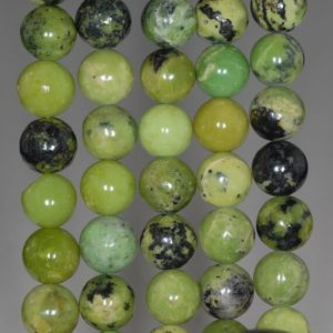 Shop Chrysoprase Round Beads! 10MM Green Chrysoprase Gemstone Grade A Round Loose Beads 15.5 inch Full Strand (80000539-A70)   Natural genuine round Chrysoprase beads for beading and jewelry making.  #jewelry #beads #beadedjewelry #diyjewelry #jewelrymaking #beadstore #beading #affiliate #ad