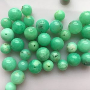 Shop Chrysoprase Round Beads! Australian Chrysoprase Grade A Round Natural Gemstone Bead 8mm 10mm   Natural genuine round Chrysoprase beads for beading and jewelry making.  #jewelry #beads #beadedjewelry #diyjewelry #jewelrymaking #beadstore #beading #affiliate #ad