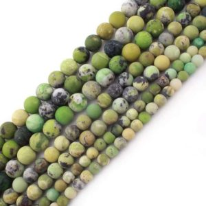 Shop Chrysoprase Round Beads! Australian Jade Chrysoprase Matte Beads, Natural Gemstone Beads, Round Stone Beads 6mm 8mm 10mm   Natural genuine round Chrysoprase beads for beading and jewelry making.  #jewelry #beads #beadedjewelry #diyjewelry #jewelrymaking #beadstore #beading #affiliate #ad