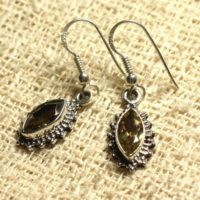 Bo207 – 925 Sterling Silver Earrings – Citrine Faceted Marquise 10x5mm | Natural genuine Gemstone jewelry. Buy crystal jewelry, handmade handcrafted artisan jewelry for women.  Unique handmade gift ideas. #jewelry #beadedjewelry #beadedjewelry #gift #shopping #handmadejewelry #fashion #style #product #jewelry #affiliate #ad