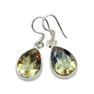 Shop Citrine Earrings! Natural Citrine Earrings – Sterling Silver Dangle Earrings Af986 The Silver Plaza | Natural genuine Citrine earrings. Buy crystal jewelry, handmade handcrafted artisan jewelry for women.  Unique handmade gift ideas. #jewelry #beadedearrings #beadedjewelry #gift #shopping #handmadejewelry #fashion #style #product #earrings #affiliate #ad