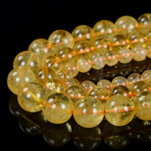 Natural Citrine Gemstone Grade AAA Round 6MM 8MM 10MM 12MM Loose Beads (D12) | Natural genuine round Citrine beads for beading and jewelry making.  #jewelry #beads #beadedjewelry #diyjewelry #jewelrymaking #beadstore #beading #affiliate #ad