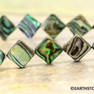 Shop Diamond Earrings! M/ Abalone Shell 11x11mm Square Diamond loose beads 28pc per strand High luster paua shell beads.Good for making earrings.Shell Bead | Natural genuine Diamond earrings. Buy crystal jewelry, handmade handcrafted artisan jewelry for women.  Unique handmade gift ideas. #jewelry #beadedearrings #beadedjewelry #gift #shopping #handmadejewelry #fashion #style #product #earrings #affiliate #ad