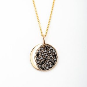 Shop Diamond Necklaces! Black Diamond Crescent Necklace   Natural genuine Diamond necklaces. Buy crystal jewelry, handmade handcrafted artisan jewelry for women.  Unique handmade gift ideas. #jewelry #beadednecklaces #beadedjewelry #gift #shopping #handmadejewelry #fashion #style #product #necklaces #affiliate #ad