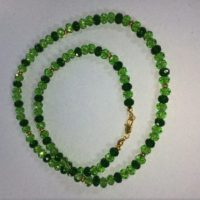 Chrome Diopside Necklace, Natural Chrome Diopside Necklace, Genuine Chrome Diopside Necklace, Birthstone Necklace | Natural genuine Gemstone jewelry. Buy crystal jewelry, handmade handcrafted artisan jewelry for women.  Unique handmade gift ideas. #jewelry #beadedjewelry #beadedjewelry #gift #shopping #handmadejewelry #fashion #style #product #jewelry #affiliate #ad
