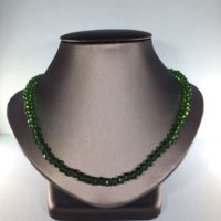 Chrome Diopside Necklace, Natural Chrome Diopside Necklace, Genuine Chrome Diopside Necklace, | Natural genuine Gemstone jewelry. Buy crystal jewelry, handmade handcrafted artisan jewelry for women.  Unique handmade gift ideas. #jewelry #beadedjewelry #beadedjewelry #gift #shopping #handmadejewelry #fashion #style #product #jewelry #affiliate #ad