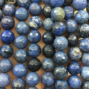 Shop Dumortierite Beads! Dumortierite Faceted Beads, Natural Gemstone Beads, Round Blue Stone Beads 6mm 8mm 10mm 15'' | Natural genuine faceted Dumortierite beads for beading and jewelry making.  #jewelry #beads #beadedjewelry #diyjewelry #jewelrymaking #beadstore #beading #affiliate #ad