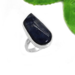 Shop Dumortierite Rings! Dumortierite Jasper Gemstone Ring, Natural Jasper Ring, Women Handmade Ring, Unisex Ring, Gemstone Silver Ring, Daily Wear Ring Jewelry | Natural genuine Dumortierite rings, simple unique handcrafted gemstone rings. #rings #jewelry #shopping #gift #handmade #fashion #style #affiliate #ad