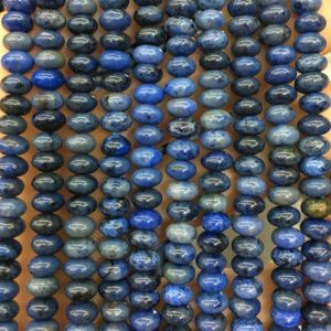 Shop Dumortierite Beads! 4x6mm Dumortierite Beads, Natural Gemstone Beads, Blue Stone Beads, Smooth Rondelle Beads 15'' | Natural genuine rondelle Dumortierite beads for beading and jewelry making.  #jewelry #beads #beadedjewelry #diyjewelry #jewelrymaking #beadstore #beading #affiliate #ad