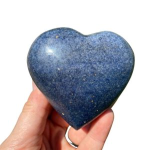 """Shop Dumortierite Stones & Crystals! Dumortierite Heart Stone (2.5"""" -3.5"""") Dumortierite stone heart – dumortierite quartz crystal – dumortierite crystal heart – third eye chakra   Natural genuine stones & crystals in various shapes & sizes. Buy raw cut, tumbled, or polished gemstones for making jewelry or crystal healing energy vibration raising reiki stones. #crystals #gemstones #crystalhealing #crystalsandgemstones #energyhealing #affiliate #ad"""