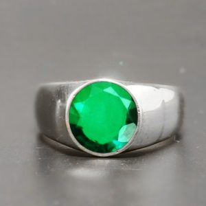 Men's emerald ring* statement gemstone ring* 925 sterling silver ring* handmade jewelry may birthstone ring emerald jewelry* engagement ring | Natural genuine Array rings, simple unique alternative gemstone engagement rings. #rings #jewelry #bridal #wedding #jewelryaccessories #engagementrings #weddingideas #affiliate #ad