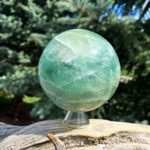 Shop Fluorite Shapes! Green Fluorite Sphere for discovering and fulfilling your soul purpose – heart chakra crystal | Natural genuine stones & crystals in various shapes & sizes. Buy raw cut, tumbled, or polished gemstones for making jewelry or crystal healing energy vibration raising reiki stones. #crystals #gemstones #crystalhealing #crystalsandgemstones #energyhealing #affiliate #ad