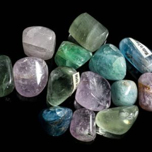 Shop Tumbled Fluorite Crystals & Pocket Stones! Multi-colored Fluorite Tumbled | Natural genuine stones & crystals in various shapes & sizes. Buy raw cut, tumbled, or polished gemstones for making jewelry or crystal healing energy vibration raising reiki stones. #crystals #gemstones #crystalhealing #crystalsandgemstones #energyhealing #affiliate #ad