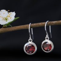 Red Garnet Drop Earrings – Garnet Round Dangle Earrings – Red Gemstone Earrings | Natural genuine Gemstone jewelry. Buy crystal jewelry, handmade handcrafted artisan jewelry for women.  Unique handmade gift ideas. #jewelry #beadedjewelry #beadedjewelry #gift #shopping #handmadejewelry #fashion #style #product #jewelry #affiliate #ad
