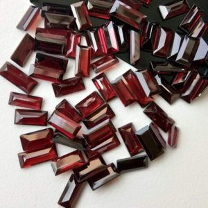 Shop Garnet Faceted Beads! 5x8mm – 5x13mm Approx. Garnet Emerald Cut Stone, Natural Faceted Garnet Stones, Loose Garnet For Jewelry (10cts To 20cts Options)- Adg143 | Natural genuine faceted Garnet beads for beading and jewelry making.  #jewelry #beads #beadedjewelry #diyjewelry #jewelrymaking #beadstore #beading #affiliate #ad