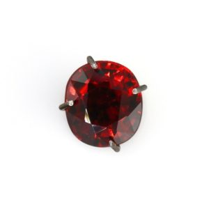 Shop Garnet Shapes! Spessartite garnet oval cut loose gemstone 7x6mm Vivid red orange colour Natural stone for jewelry 1.58ct | Natural genuine stones & crystals in various shapes & sizes. Buy raw cut, tumbled, or polished gemstones for making jewelry or crystal healing energy vibration raising reiki stones. #crystals #gemstones #crystalhealing #crystalsandgemstones #energyhealing #affiliate #ad