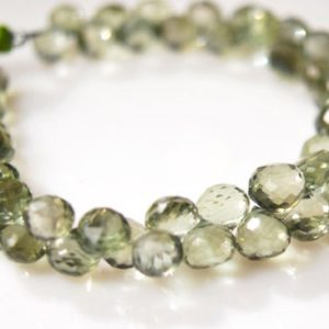 Shop Green Amethyst Beads! 1/2 strand of green amethyst onion briolettes   Natural genuine other-shape Green Amethyst beads for beading and jewelry making.  #jewelry #beads #beadedjewelry #diyjewelry #jewelrymaking #beadstore #beading #affiliate #ad