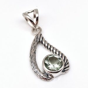 Shop Green Amethyst Pendants! Green Amethyst Pendant / / Oxidized Setting / / 925 Sterling Silver   Natural genuine Green Amethyst pendants. Buy crystal jewelry, handmade handcrafted artisan jewelry for women.  Unique handmade gift ideas. #jewelry #beadedpendants #beadedjewelry #gift #shopping #handmadejewelry #fashion #style #product #pendants #affiliate #ad