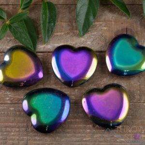 Rainbow HEMATITE Crystal Heart – Self Care, Home Decor, Healing Crystals and Stones, E0539 | Natural genuine stones & crystals in various shapes & sizes. Buy raw cut, tumbled, or polished gemstones for making jewelry or crystal healing energy vibration raising reiki stones. #crystals #gemstones #crystalhealing #crystalsandgemstones #energyhealing #affiliate #ad