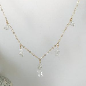 Shop Herkimer Diamond Necklaces! Herkimer Diamond Necklace Herkimer Necklace April Birthstone Gold Fill Necklace Boho Necklace Dainty Necklace Layering Necklace | Natural genuine Herkimer Diamond necklaces. Buy crystal jewelry, handmade handcrafted artisan jewelry for women.  Unique handmade gift ideas. #jewelry #beadednecklaces #beadedjewelry #gift #shopping #handmadejewelry #fashion #style #product #necklaces #affiliate #ad