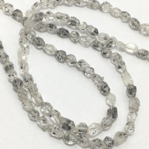 Shop Herkimer Diamond Beads! 1 Strand Aaa Quality Herkimer Diamond Quartz, diamond Quartz, crystal Beads, minerals, herkimar Stone Beads, jewelry Making   Natural genuine other-shape Herkimer Diamond beads for beading and jewelry making.  #jewelry #beads #beadedjewelry #diyjewelry #jewelrymaking #beadstore #beading #affiliate #ad