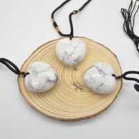 Natural White Howlite Heart Shaped Semi-precious Gemstone Pendant With Cord – Approx Size 3cm | Natural genuine Gemstone jewelry. Buy crystal jewelry, handmade handcrafted artisan jewelry for women.  Unique handmade gift ideas. #jewelry #beadedjewelry #beadedjewelry #gift #shopping #handmadejewelry #fashion #style #product #jewelry #affiliate #ad