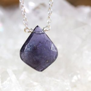 Shop Iolite Pendants! Iolite Necklace – Water Sapphire Necklace – Genuine Iolite Jewlery – Gift for Her – Chakra Pendant Nekcklace – Water Sapphire Pendant   Natural genuine Iolite pendants. Buy crystal jewelry, handmade handcrafted artisan jewelry for women.  Unique handmade gift ideas. #jewelry #beadedpendants #beadedjewelry #gift #shopping #handmadejewelry #fashion #style #product #pendants #affiliate #ad
