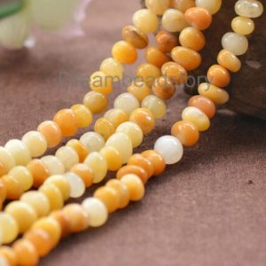 Shop Jade Chip & Nugget Beads! Natural Yellow Jade Freedom Pebble Beads, Full Strand 8*10mm Semi Precious Stone Loose Beads Wholesale (JY102) | Natural genuine chip Jade beads for beading and jewelry making.  #jewelry #beads #beadedjewelry #diyjewelry #jewelrymaking #beadstore #beading #affiliate #ad