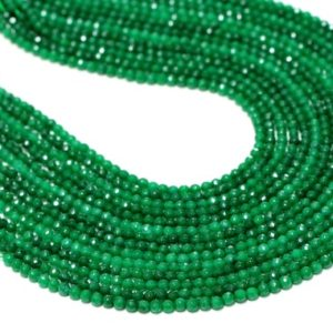 """Shop Jade Necklaces! Green Jade beads,faceted jade stones,round beads,emerald beads,emerald jade necklace,semiprecious beads,jewelry supplies – 16"""" Full Strand 