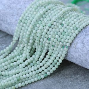 Shop Jade Bead Shapes! Grade A Natural Burma Jadeite Gemstone Beads for Jewelry Making 2mm 3mm 4mm Jade Sold by Strand | Natural genuine other-shape Jade beads for beading and jewelry making.  #jewelry #beads #beadedjewelry #diyjewelry #jewelrymaking #beadstore #beading #affiliate #ad