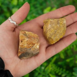 Shop Raw & Rough Jasper Stones! Large Raw Yellow Jasper Rough Crystal | Natural genuine stones & crystals in various shapes & sizes. Buy raw cut, tumbled, or polished gemstones for making jewelry or crystal healing energy vibration raising reiki stones. #crystals #gemstones #crystalhealing #crystalsandgemstones #energyhealing #affiliate #ad