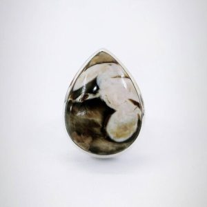 Shop Jasper Rings! Peanut Wood Jasper Ring, 925 Sterling Silver Ring, Valentine's Gift, Chocolate Jasper, Handmade Ring, Women and Men Ring. Free Shipping. | Natural genuine Jasper rings, simple unique handcrafted gemstone rings. #rings #jewelry #shopping #gift #handmade #fashion #style #affiliate #ad
