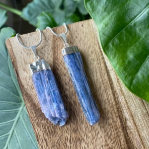 Shop Kyanite Necklaces! Kyanite Necklace, Raw Kyanite Necklace, Blue Kyanite Necklace, Crystal Necklace, Crystal Jewelry   Natural genuine Kyanite necklaces. Buy crystal jewelry, handmade handcrafted artisan jewelry for women.  Unique handmade gift ideas. #jewelry #beadednecklaces #beadedjewelry #gift #shopping #handmadejewelry #fashion #style #product #necklaces #affiliate #ad