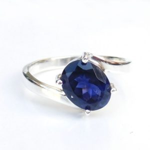 Shop Kyanite Rings! Oval Kyanite Ring, Prong Set Ring, Oval Gemstone Ring, Single Band Ring, Blue Kyanite Ring, Statement Ring, Dainty Ring, Tiny Ring, Stacking   Natural genuine Kyanite rings, simple unique handcrafted gemstone rings. #rings #jewelry #shopping #gift #handmade #fashion #style #affiliate #ad