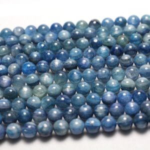 Shop Kyanite Beads! Kyanite Beads, Natural Gemstone Beads, Blue Kyanite Stone Beads Round Beads 6mm 8mm 10mm 15'' | Natural genuine beads Kyanite beads for beading and jewelry making.  #jewelry #beads #beadedjewelry #diyjewelry #jewelrymaking #beadstore #beading #affiliate #ad