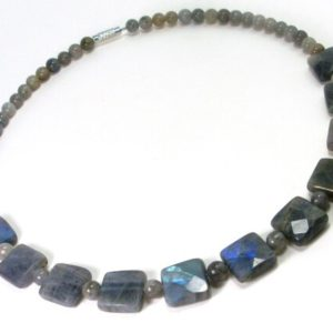 Shop Labradorite Necklaces! Labradorite Women Necklace,Unique Beaded Women Necklace,Labradorite Beaded Necklace,Natural Gemstone Necklace,Gift for Women +Gift Box   Natural genuine Labradorite necklaces. Buy crystal jewelry, handmade handcrafted artisan jewelry for women.  Unique handmade gift ideas. #jewelry #beadednecklaces #beadedjewelry #gift #shopping #handmadejewelry #fashion #style #product #necklaces #affiliate #ad