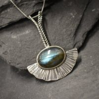 Labradorite Pendant, Natural Labradorite, Long Silver Pendant, Bohemian Pendant, Leaf Pendant, Vintage Necklace, Sterling Silver Pendant | Natural genuine Gemstone jewelry. Buy crystal jewelry, handmade handcrafted artisan jewelry for women.  Unique handmade gift ideas. #jewelry #beadedjewelry #beadedjewelry #gift #shopping #handmadejewelry #fashion #style #product #jewelry #affiliate #ad
