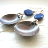Lapis Lazuli Earrings, Blue Lapis Lazuli Stone Earrings, Lapis Earrings, Copper Earrings, Handmade Jewelry, Gemstone Jewelry, Birthstone   Natural genuine Gemstone jewelry. Buy crystal jewelry, handmade handcrafted artisan jewelry for women.  Unique handmade gift ideas. #jewelry #beadedjewelry #beadedjewelry #gift #shopping #handmadejewelry #fashion #style #product #jewelry #affiliate #ad