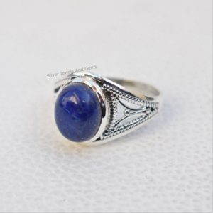 Shop Lapis Lazuli Jewelry! Natural Lapis Lazuli Ring-handmade Silver Ring-925 Sterling Silver Ring-gift For Her-taurus Birthstone-designer Oval Lapis Ring-promise Ring | Natural genuine Lapis Lazuli jewelry. Buy crystal jewelry, handmade handcrafted artisan jewelry for women.  Unique handmade gift ideas. #jewelry #beadedjewelry #beadedjewelry #gift #shopping #handmadejewelry #fashion #style #product #jewelry #affiliate #ad