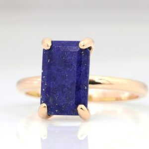 Shop Lapis Lazuli Jewelry! September Birthstone Ring, lapis Ring, lapis Lazuli Ring, lapis Ring For Women, rectangle Ring, gemstone Ring, stackable Ring | Natural genuine Lapis Lazuli jewelry. Buy crystal jewelry, handmade handcrafted artisan jewelry for women.  Unique handmade gift ideas. #jewelry #beadedjewelry #beadedjewelry #gift #shopping #handmadejewelry #fashion #style #product #jewelry #affiliate #ad