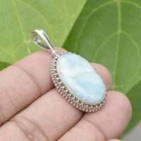 Larimar Pendant, 925 Sterling Sterling Silver, 15x24mm Oval Pendant, Silver Necklace Pendant, Jewelry Pendant, larimar Jewelry, unisex Pendant | Natural genuine Gemstone jewelry. Buy crystal jewelry, handmade handcrafted artisan jewelry for women.  Unique handmade gift ideas. #jewelry #beadedjewelry #beadedjewelry #gift #shopping #handmadejewelry #fashion #style #product #jewelry #affiliate #ad