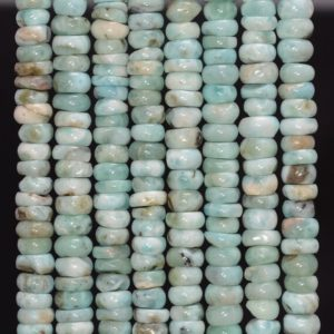 Shop Larimar Rondelle Beads! Dominican Larimar Gemstone Blue 7×2-7x3mm Rondelle Slice Loose Beads 7 Inch Half Strand (80003061-219)   Natural genuine rondelle Larimar beads for beading and jewelry making.  #jewelry #beads #beadedjewelry #diyjewelry #jewelrymaking #beadstore #beading #affiliate #ad