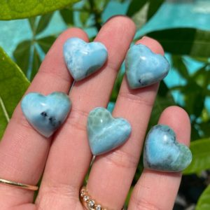Shop Larimar Shapes! Larimar heart, Larimar, fossil, minerals | Natural genuine stones & crystals in various shapes & sizes. Buy raw cut, tumbled, or polished gemstones for making jewelry or crystal healing energy vibration raising reiki stones. #crystals #gemstones #crystalhealing #crystalsandgemstones #energyhealing #affiliate #ad