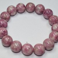 Lepidolite Bracelet Large 14mm Beads | Natural genuine Gemstone jewelry. Buy crystal jewelry, handmade handcrafted artisan jewelry for women.  Unique handmade gift ideas. #jewelry #beadedjewelry #beadedjewelry #gift #shopping #handmadejewelry #fashion #style #product #jewelry #affiliate #ad