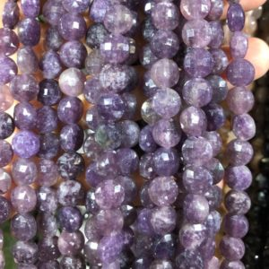 Shop Lepidolite Faceted Beads! Lepidolite Faceted Beads, Natural Gemstone Beads, Coin Round Stone Beads 8mm 15''   Natural genuine faceted Lepidolite beads for beading and jewelry making.  #jewelry #beads #beadedjewelry #diyjewelry #jewelrymaking #beadstore #beading #affiliate #ad