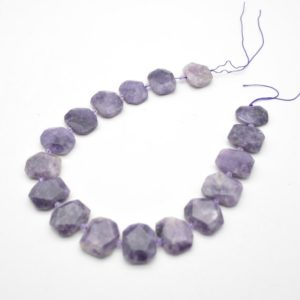 """Shop Lepidolite Faceted Beads! High Quality Grade A Natural Lepidolite Semi-precious Gemstone Faceted Side Drilled Rectangle Pendant / Beads – Approx 15.5"""" Strand   Natural genuine faceted Lepidolite beads for beading and jewelry making.  #jewelry #beads #beadedjewelry #diyjewelry #jewelrymaking #beadstore #beading #affiliate #ad"""