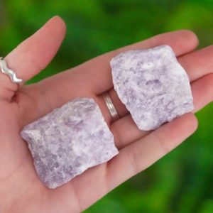 Shop Raw & Rough Lepidolite Stones! Large Raw Lepidolite Rough Crystal | Natural genuine stones & crystals in various shapes & sizes. Buy raw cut, tumbled, or polished gemstones for making jewelry or crystal healing energy vibration raising reiki stones. #crystals #gemstones #crystalhealing #crystalsandgemstones #energyhealing #affiliate #ad