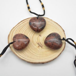 Shop Mahogany Obsidian Pendants! Natural Mahogany Obsidian Heart Shaped Semi-precious Gemstone Pendant with Cord – Approx Size 2.5cm – 3cm   Natural genuine Mahogany Obsidian pendants. Buy crystal jewelry, handmade handcrafted artisan jewelry for women.  Unique handmade gift ideas. #jewelry #beadedpendants #beadedjewelry #gift #shopping #handmadejewelry #fashion #style #product #pendants #affiliate #ad